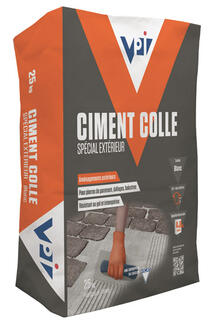 Ciment colle sp cial ext rieur ciments ma onnerie le for Colle ciment exterieur